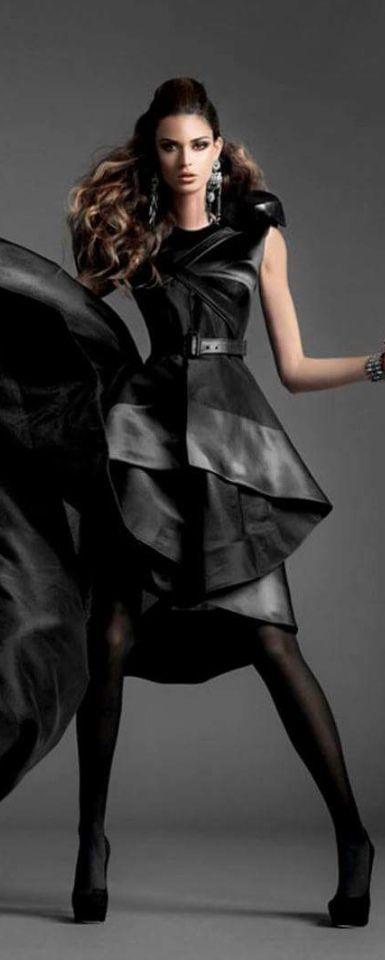 1000+ Ideas About Black Leather Dresses On Pinterest