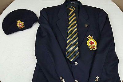 Royal Canadian Legion Blazer Suit Jacket Hat Tie Pin