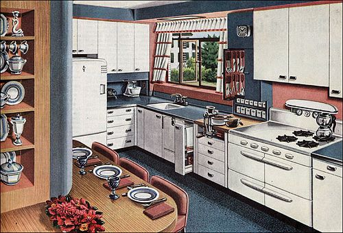 1946 American Gas Association - Buffet Kitchen by American Vintage Home, via Flickr