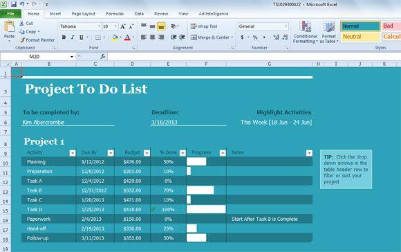 20 best Tasjs images on Pinterest Productivity, Calendar and - spreadsheet for project management