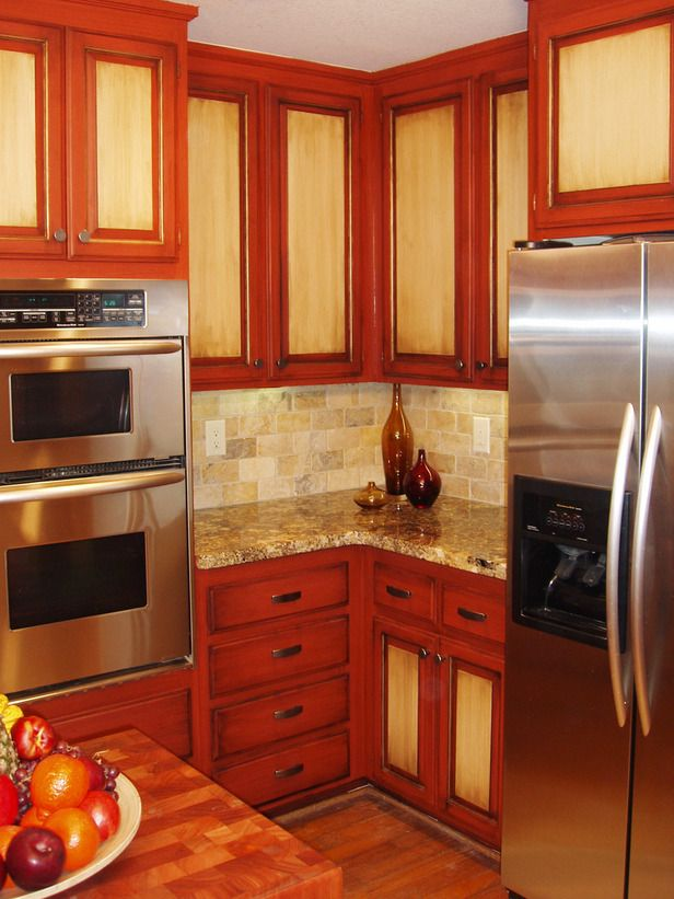 How To Paint Kitchen Cabinets In A Two Tone Finish Renew Old Cabinets And  Add Depth To Your Kitchen With A Two Tone Paint And Finish Treatment.