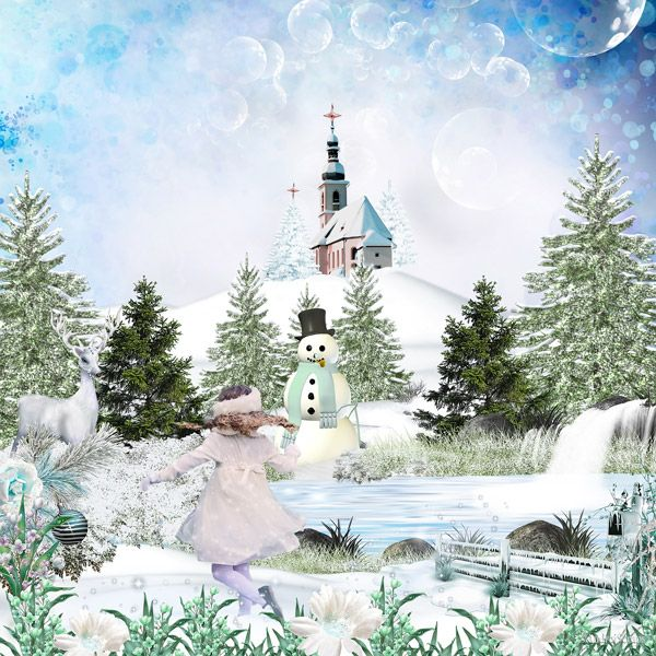 **NEW** Snowy Winter by Desclics  Available @ http://www.paradisescrap.com/fr/376-desclics