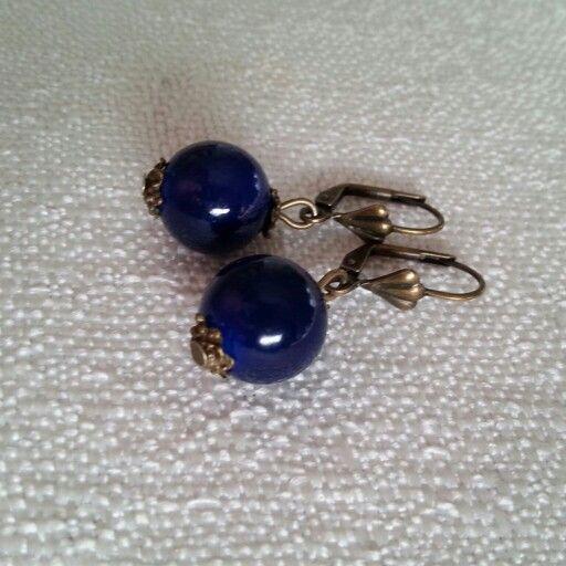 #earrings #handmade #blue