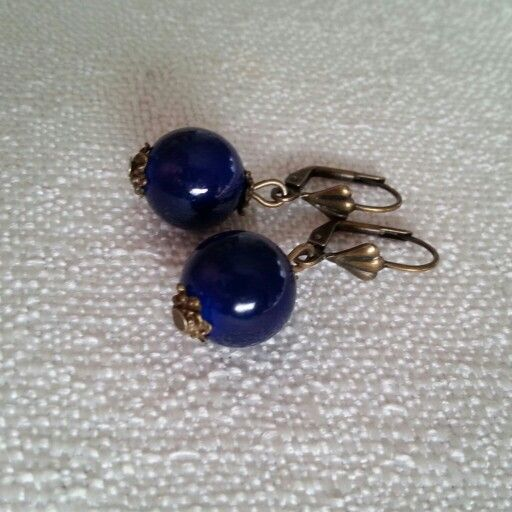 #earrings #handmade #blue