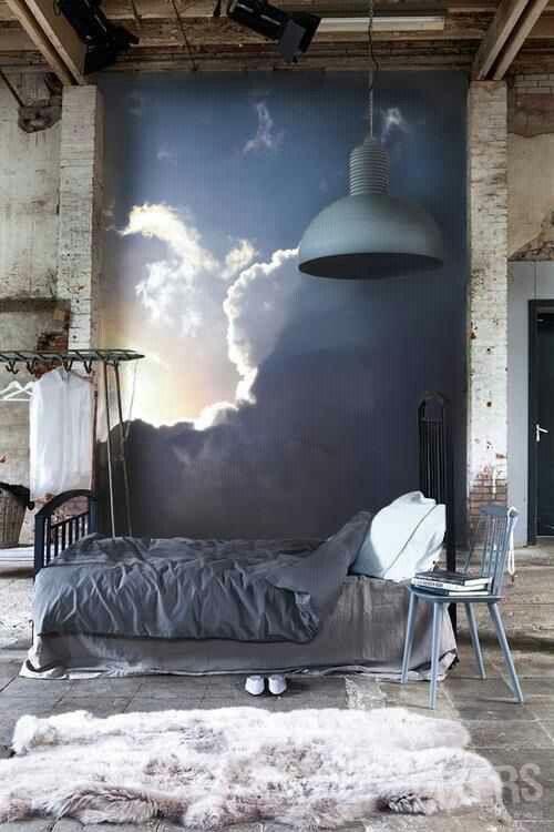 cloud mural / attic