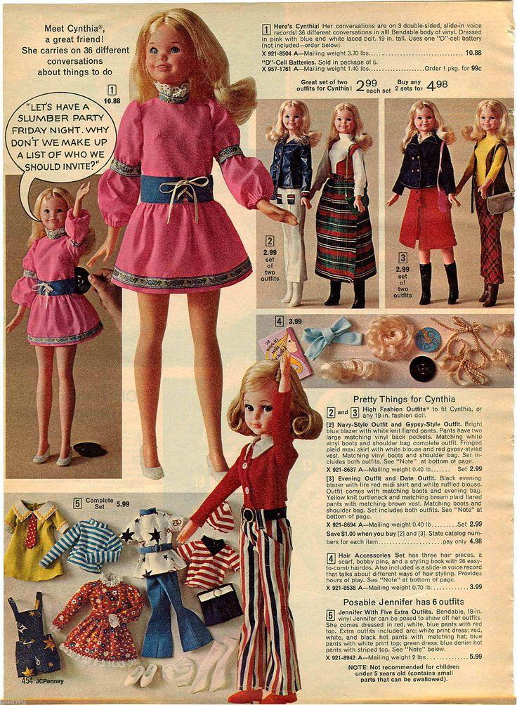 1972 ADVERT Mattel Cynthia Doll Talking Records Chipper Old Fashioned Bambino | eBay