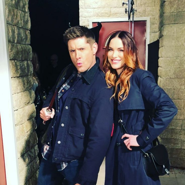 Jensen Ackles And Danneel Harris Ackles Supernatural Season 13 #SpnFamily #DeanWinchester