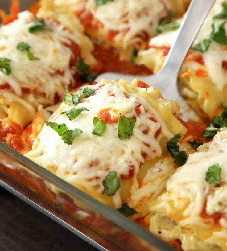 Easy Cheesy And Healthy Lasagna Rolls Really Easy To Make And Are A