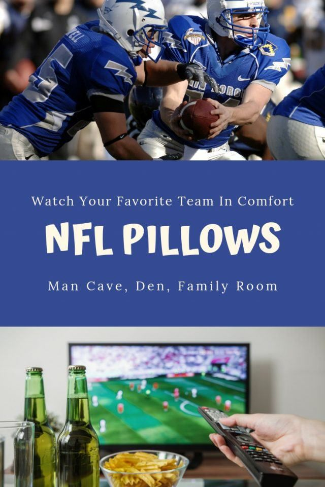 Grab These Fun Nfl Pillows And Watch The Game In Comfort With