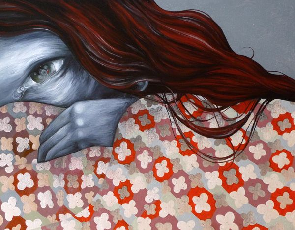 """Old Soul"" - oil/acrylic/charcoal on canvas, 2013, by Lotte Teussink"