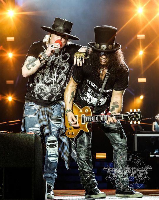 Axl Rose & Slash of Guns N' Roses, august 2016 #notinthislifetimetour