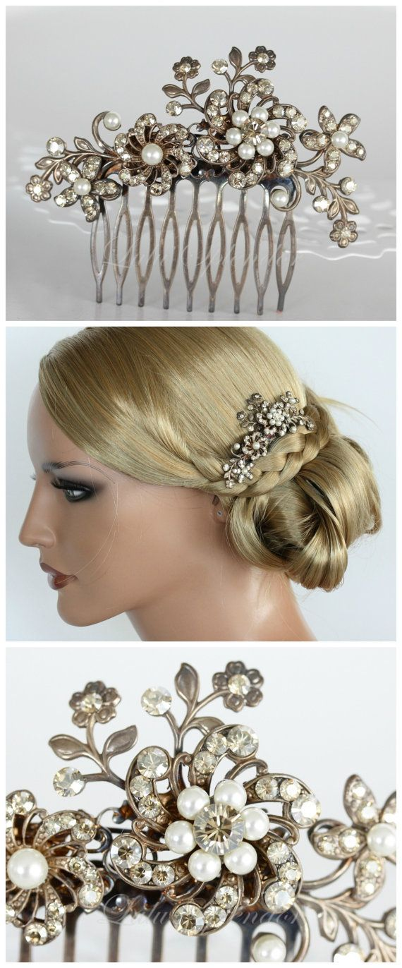 70 best Wedding hair clips images on Pinterest