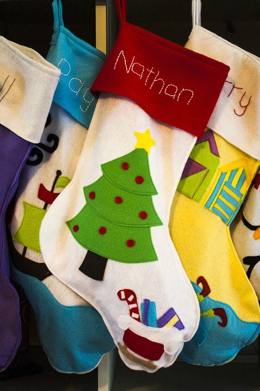78 Best Ideas About Felt Christmas Stockings On Pinterest | Felt