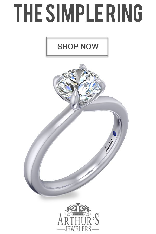 Fana S3933 Wg Simple Round Diamond Engagement Ring Engagement Rings Affordable Round Diamond Engagement Rings Simple Engagement Rings