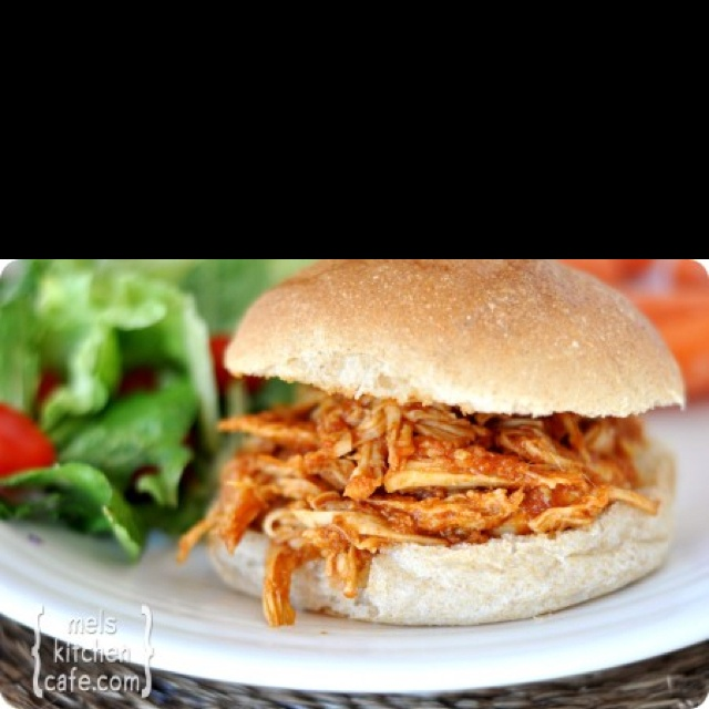 Barbecue Pulled Chicken Sandwiches Recipe — Dishmaps