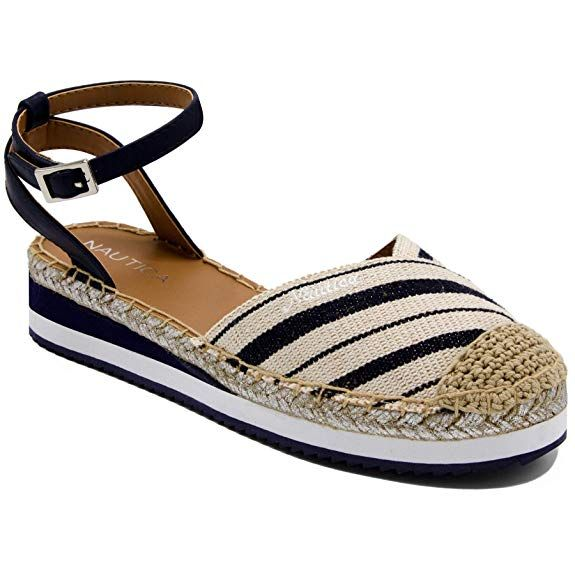 da023a30b210d Amazon.com | Nautica Women's Nadana Espadrille Platforms Sandals ...