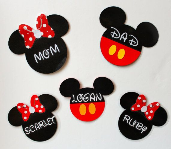 Personalize your stateroom door with these cute custom made magnets! Not only are these fun, but they help you and the kiddos recognize your
