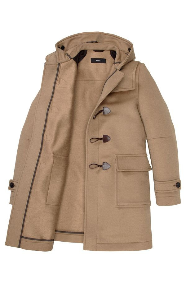 Manteau caban duffle coat veste homme noir fashion