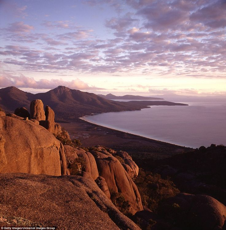 The Freycinet Peninsula is bathed in stunning light in the late afternoon. Almost 1.6 mill...