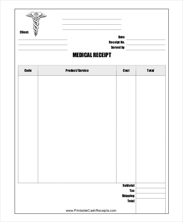 7+ Store Receipt Templates | Free Printable Excel, Word ...