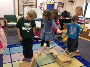 """cultivate team work and problem solving through team challenges like the """"lava pit"""""""
