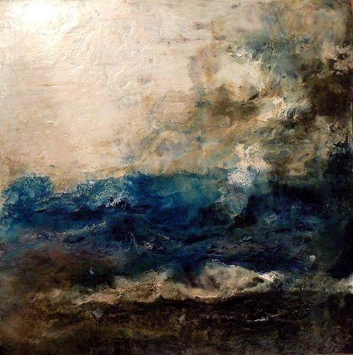 painting: Paintings Art, Oil Paintings, Sharonbarfoot, Sea Paintings, The Ocean, Abstract Landscape, Beautiful Artworks, The Sea, Stormy Sea