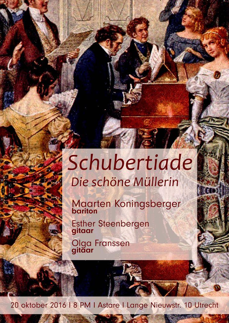 Donderdag 20 oktober: Schubertiade. Met Maarten Koningsberger, Esther Steenbergen & Olga Franssen. Tickets: € 15
