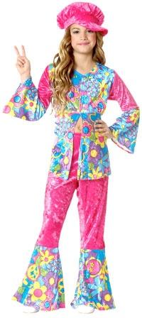 Girls Flower Power Hippie Costume - Hippie Costumes