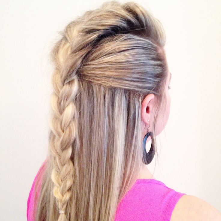 french braided mohawk                                                                                                                                                                                 More