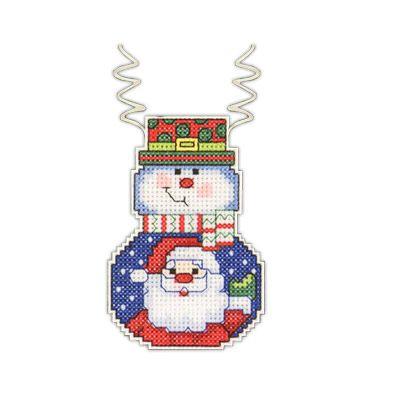 """Janlynn"" набор для вышивания ""новогодняя игрушка"" №2 СК 021-1195 ""Снеговик с Сантой"" 7,6х5,7 | Janlynn | Наборы для вышивания | Вышивание | Интернет-магазин | Леонардо хобби-гипермаркет - сделай своими руками"
