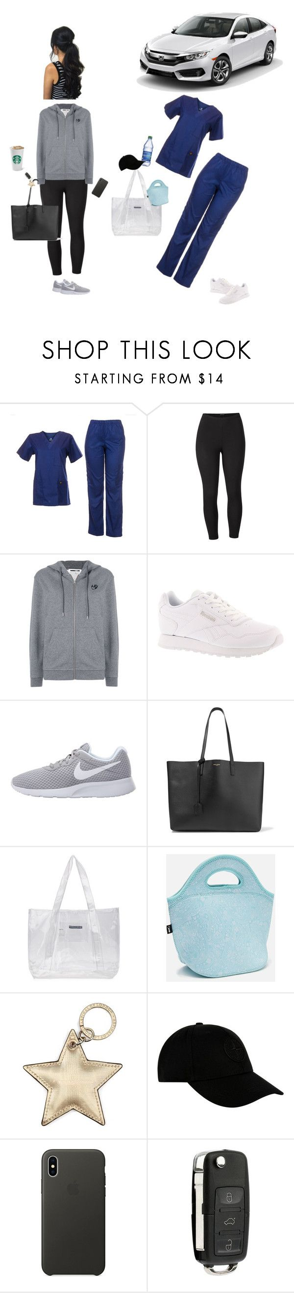 """""""Untitled #413"""" by nicole-dobosz ❤ liked on Polyvore featuring Venus, McQ by Alexander McQueen, Reebok, NIKE, Yves Saint Laurent, A-Cold-Wall*, Aspinal of London, STONE ISLAND, Apple and plus size clothing"""