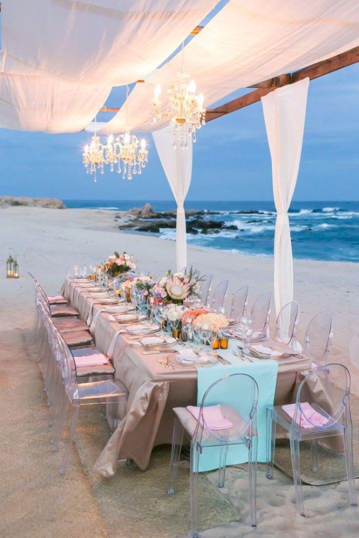 mesas celebración bodas Idílicas mesas y bodas en la playa eventos junto al mar…