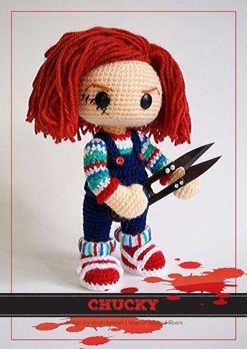 Free Pattern for Crochet Chucky Amigurumi.