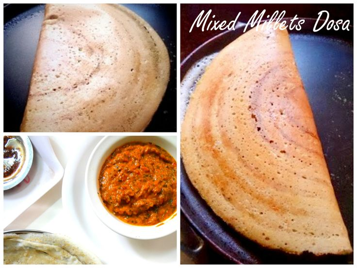 Mixed millets dosas.....Idli,  dosa , chutney Recipes at a glance