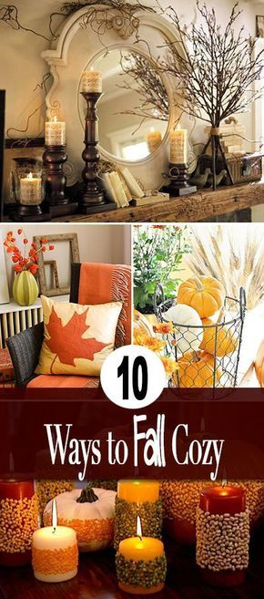 10 Ways to Make Your Home Fall Cozy • Easy ideas and a couple tutorials to make fall decorating projects for your home!
