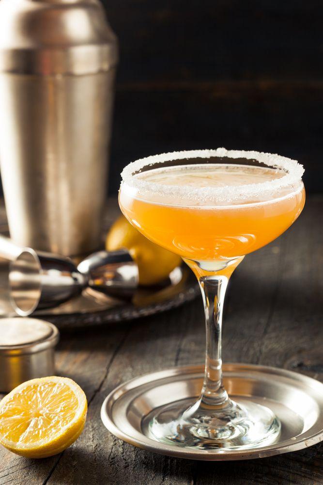 Refreshing Boozy Sidecar Cocktail with a Sugar Rim ©Brent Hofacker / Shutterstock