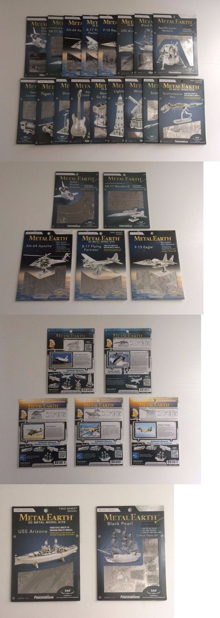 Other Models and Kits 774: Lot Of 17 Fascinations Metal Earth 3D Laser Cut Models - Variety - No Duplicates -> BUY IT NOW ONLY: $50 on eBay!