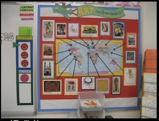 I like the idea of using a bulletin board map to highlight important locations for social studies