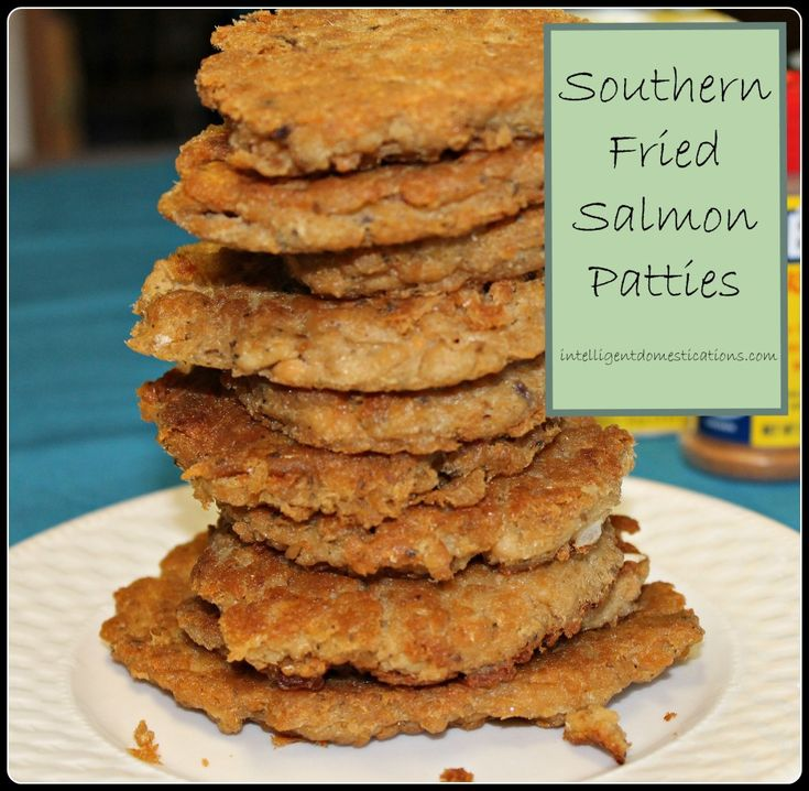 How to make Southern Fried Salmon Patties.intelligentdomestications.com #stoptheyuck