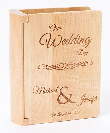 Love this 'Our Wedding Day' Personalized Photo Album by American Laser Crafts on #zulily! #zulilyfinds