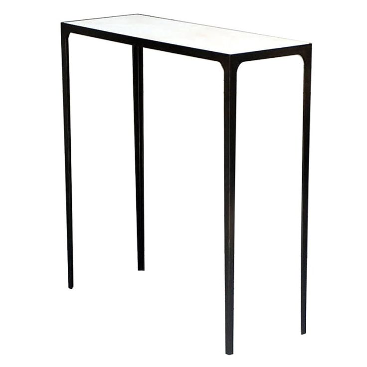 The JMF Wrought Iron and Parchment Console - Contemporary Industrial Traditional Transitional Mid-Century / Modern Console Tables - Dering Hall
