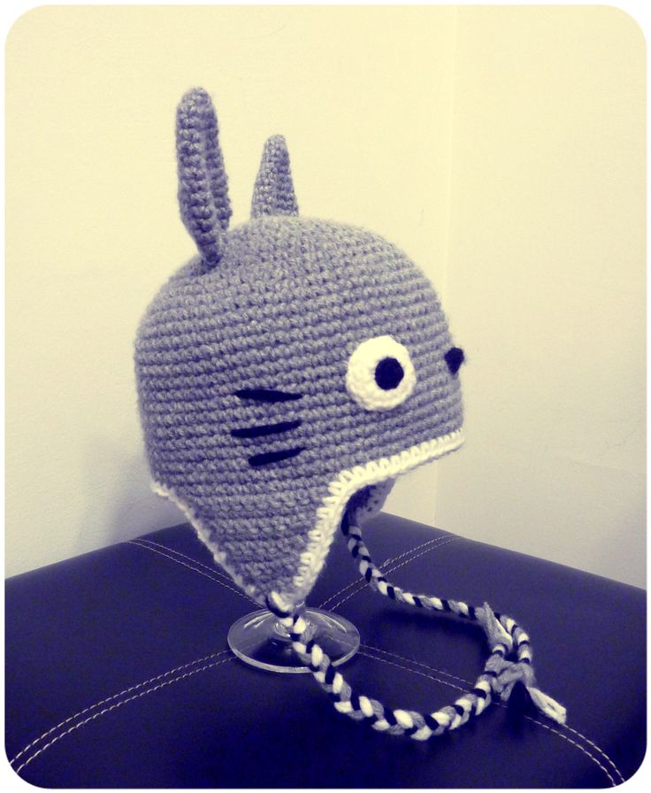 Knitting Pattern For Totoro Hat : 30 best boinas tejida images on Pinterest