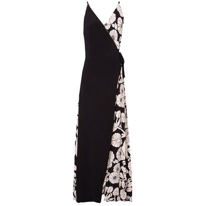 TOTEM - Vestido envelope lulu sunflower Totem - preto - OQVestir