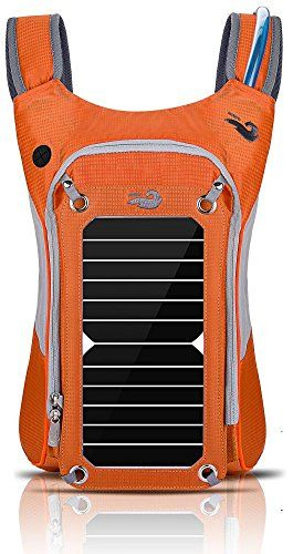 HOWO Outdoor Pack Commputer Solar Powered Backpack Orange ** Visit the image link more details.(This is an Amazon affiliate link and I receive a commission for the sales)