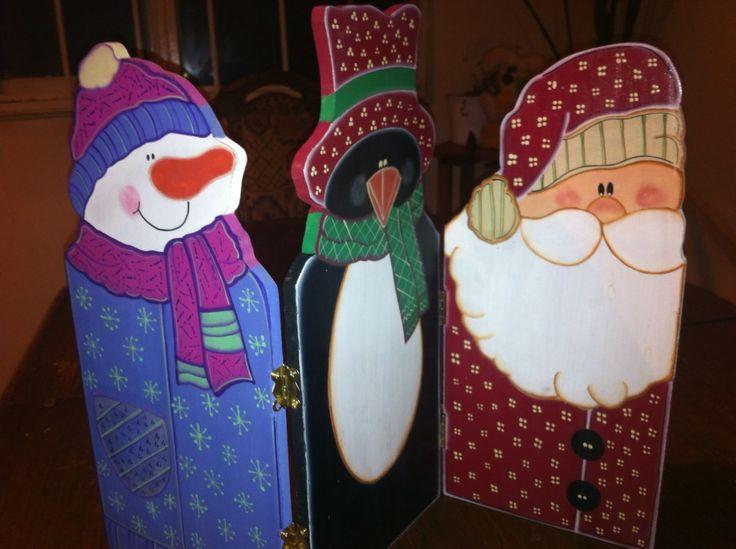 Triptico decorativo de navidad
