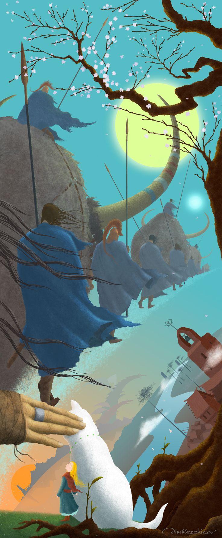 Worlds' crossing  Перекресток миров  art • russian • illustration • calendar • drawing • artist • illustrator • fantasy