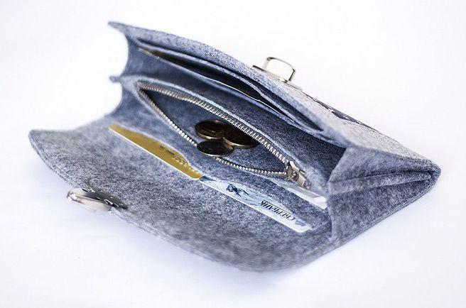 Wallet padrão de costura / tutorial, sentiu padrão de carteira.  DIY Foto Tutorial