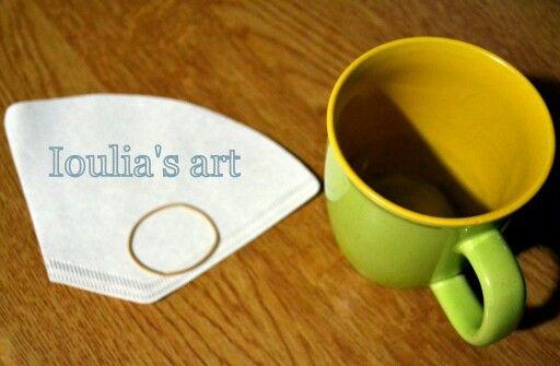 Cafe americano! Easy way ;) http://iouliasart.blogspot.gr/