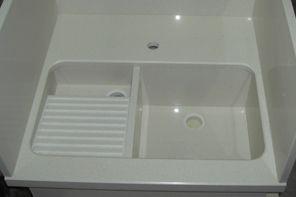 Pilar de lavar a medida para integrar en módulo de cocina