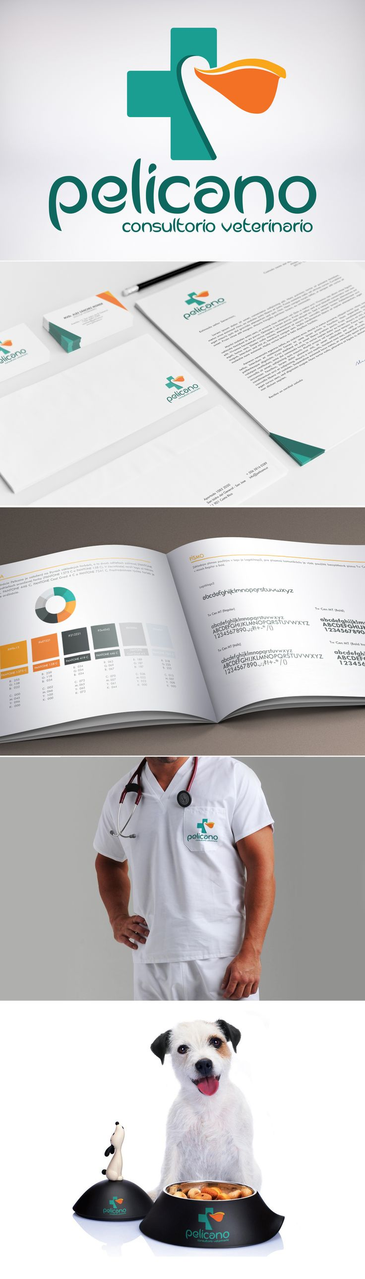 Brand identity for the Costarican veterinary clinic Pelicano.   More about this project on https://www.behance.net/gallery/17064965/Pelicano